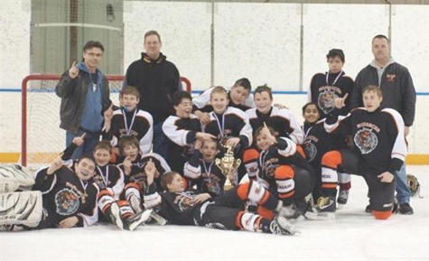 Maples Boys 13A1 Hockey champions team shot Christmas Challenge 2011.