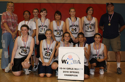 Maples Girls 13-14 2010 City Champs picture. 2010